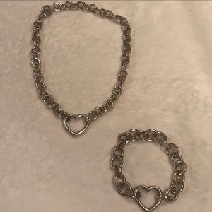 VINTAGE Tiffany & Co. Open Heart Set